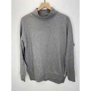 Free People Mock Neck Long Sleeve Solid Sweater